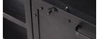 Meuble TV design métal noir 150cm FACTORY
