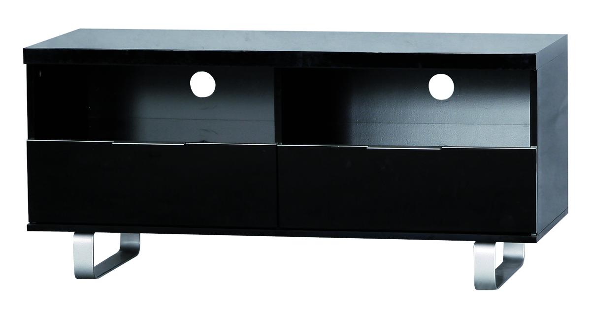 Meuble Tv Design Noir Lea 170cm Sur Roulettes 2 Casiers Et ...