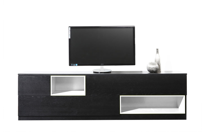 Meuble Tv Blanc Et Teck : » Meuble Tv » Meuble Tv Design » Meuble Tv Design Noir Et Blanc