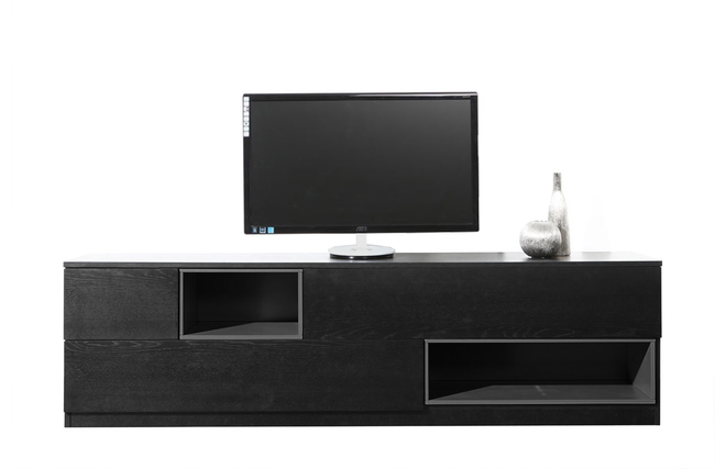 meuble tv dangle norstone corner noir – Artzein.com