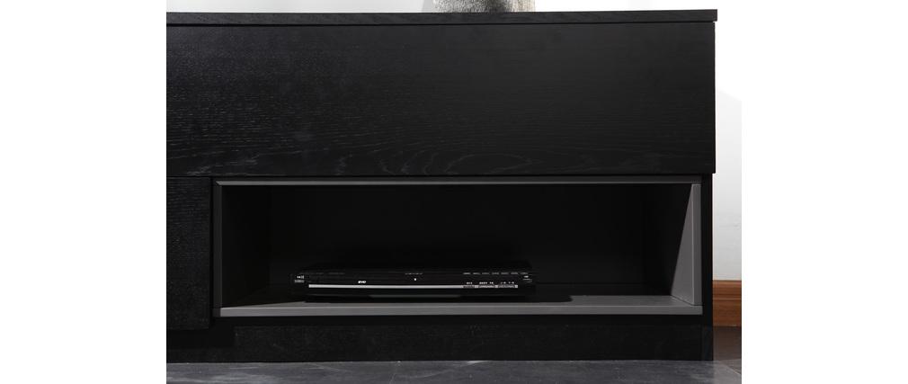 Meuble tv design modulable sammlung von for Meuble tv noir et gris