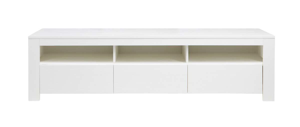 meuble tv design pin blanc cavali miliboo. Black Bedroom Furniture Sets. Home Design Ideas