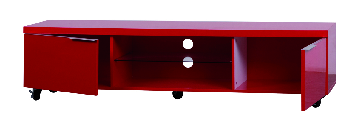 Trendy meuble tv metal rouge ikea meubles tvvido sur for Meuble tv rouge but
