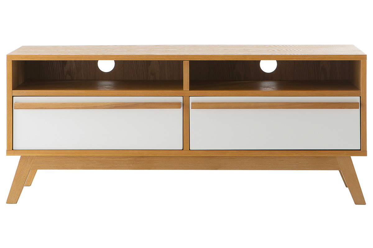 Meuble tv design scandinave helia miliboo for Meubles sejour contemporain pas cher