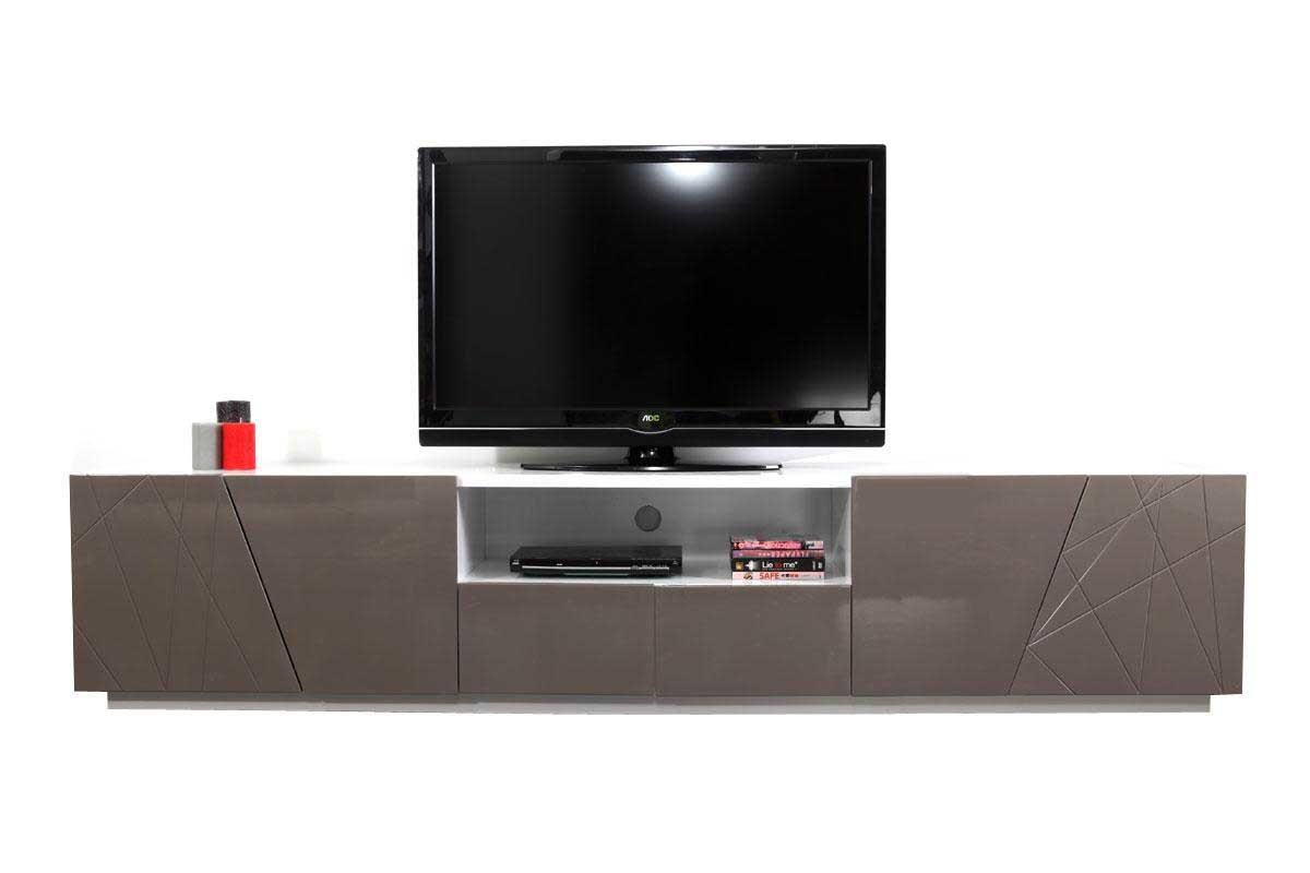 Porte et guide d 39 achat - Meuble tv taupe laque ...
