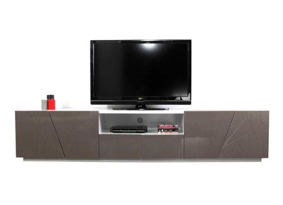 Meuble TV design taupe ALESSIA