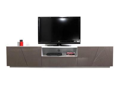 Meuble TV design taupe ALESSIA