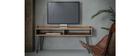 Meuble TV en bois d'acacia et métal noir ALVIN