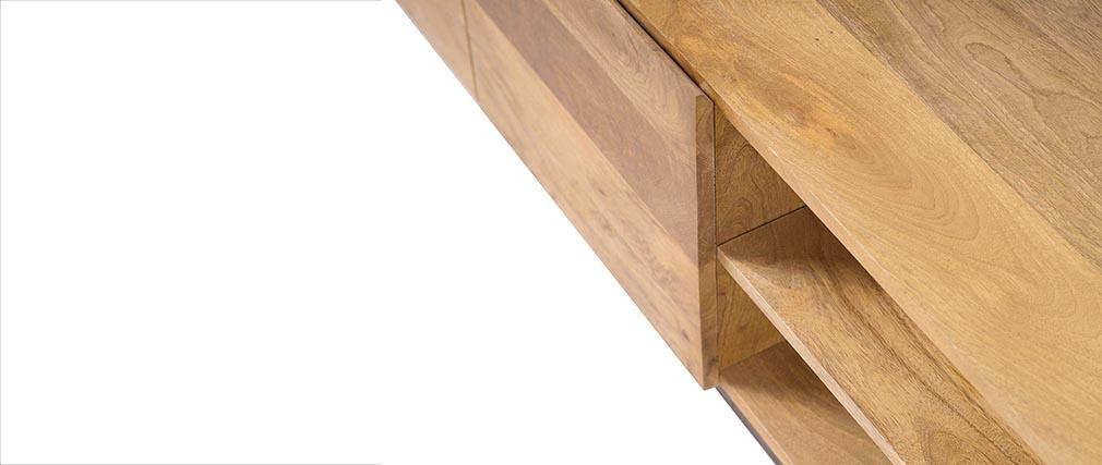 meuble tv industriel manguier et m tal ypster miliboo. Black Bedroom Furniture Sets. Home Design Ideas