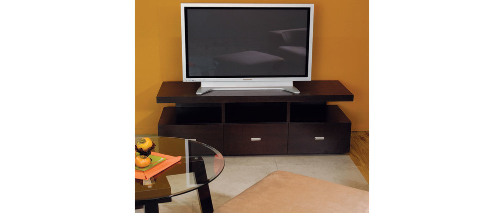 meuble tv nardo en ch ne malaisien coloris wenge miliboo. Black Bedroom Furniture Sets. Home Design Ideas