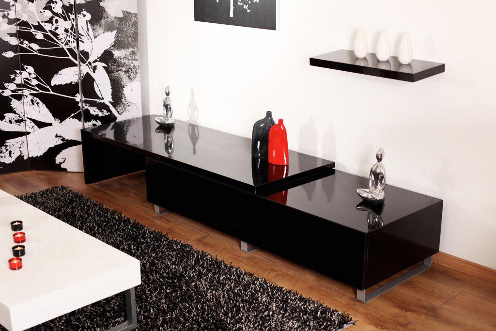 Meuble Tv Moderne Noir : Peinture Et Bricolage – Meuble Tv Design – Decoration Chambre Maison