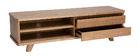 Meuble TV placage frêne avec tiroirs L140 cm FIFTIES
