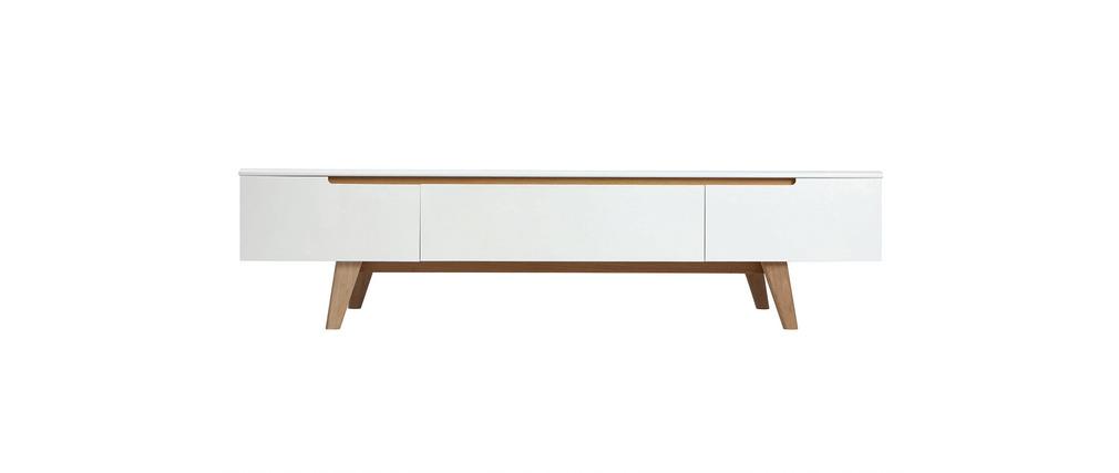 Prix des meuble tv blanc 3 - Meuble tv blanc scandinave ...