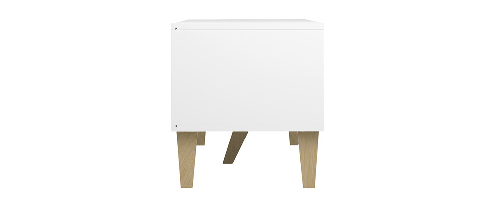 Meuble TV scandinave blanc ORIGAMI