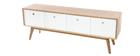 Meuble TV scandinave bois blanc HELIA