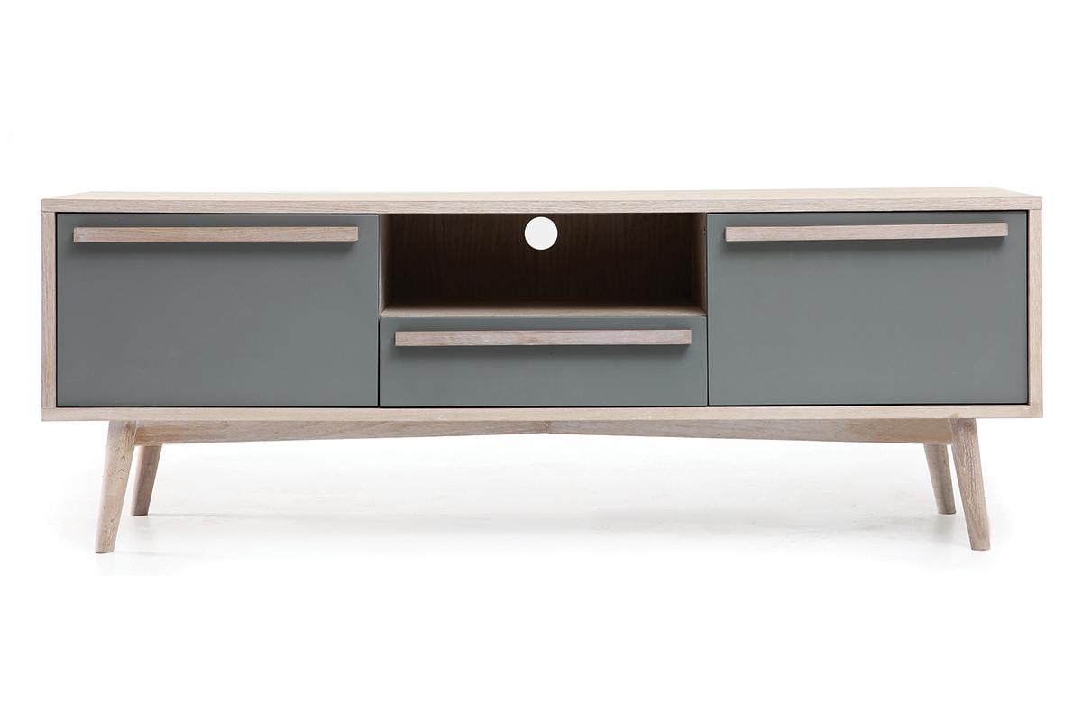 Meuble tv blanc pivotant meilleure inspiration pour vos for Boisvert meuble
