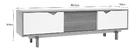 meuble TV scandinave modulable blanc et chêne ACOUSTIC