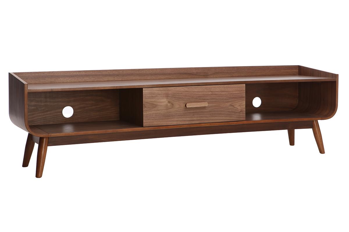 prix le plus bas 10fe6 e9bf3 Meuble TV vintage bois noyer 180 cm HALLEN - Miliboo