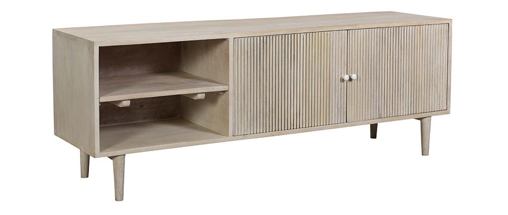 Meuble TV vintage en bois de manguier PATH - Miliboo & Stéphane Plaza
