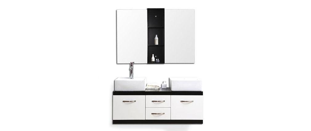 Meubles de salle de bain double vasque meuble sous for Meuble salle de bain avec vasque et miroir pas cher