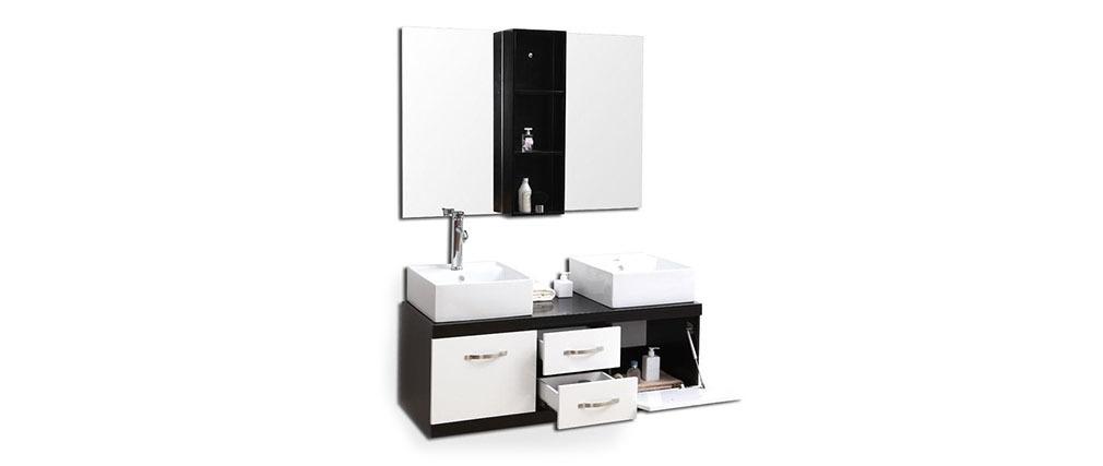 Meubles de salle de bain double vasque meuble sous for Meuble vasque salle de bain soldes