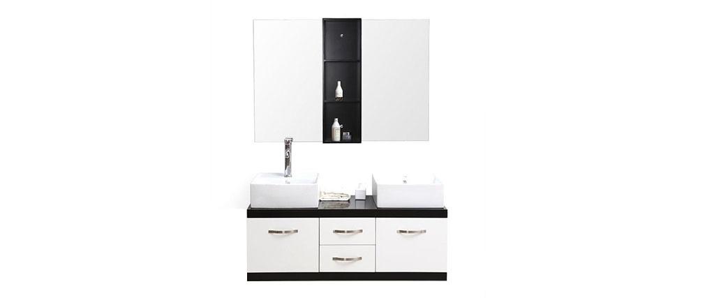 Meubles de salle de bain double vasque meuble sous for Meuble sous double vasque salle bain