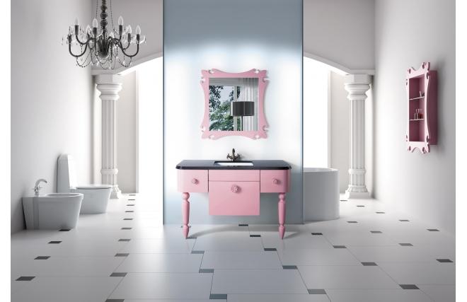 meubles de salle de bain vasque meuble sous vasque tag re et miroir vicky miliboo. Black Bedroom Furniture Sets. Home Design Ideas
