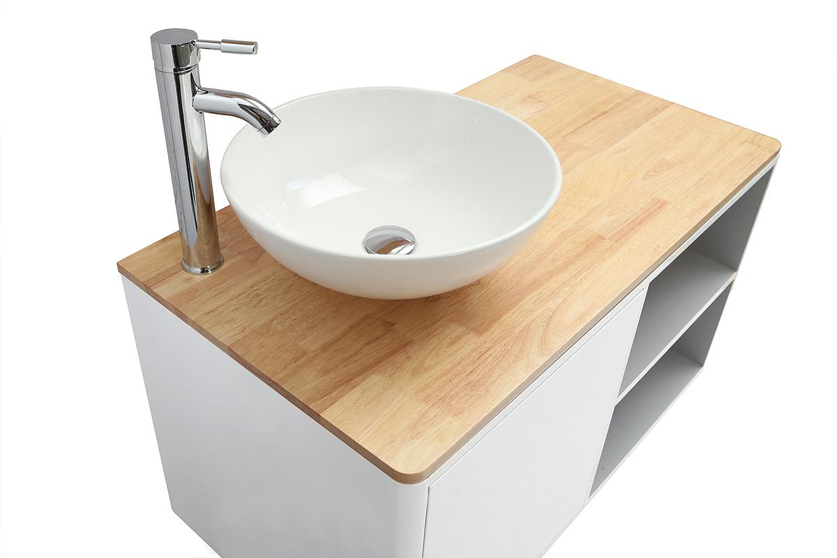 Meuble Pour Vasque Avec Colonne meubles de salle de bains avec colonne et miroir blanc et