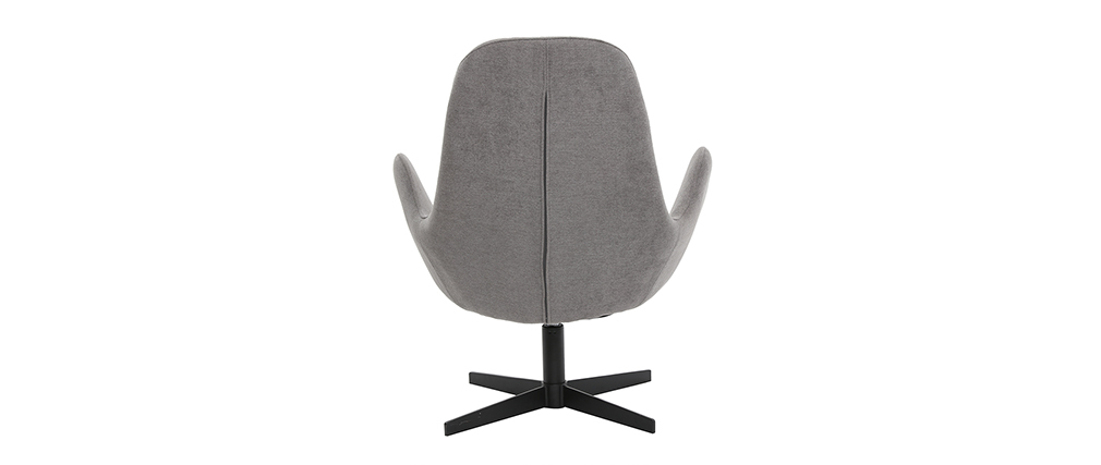 Miliboo & Stéphane Plaza - Fauteuil design velours gris ANDY