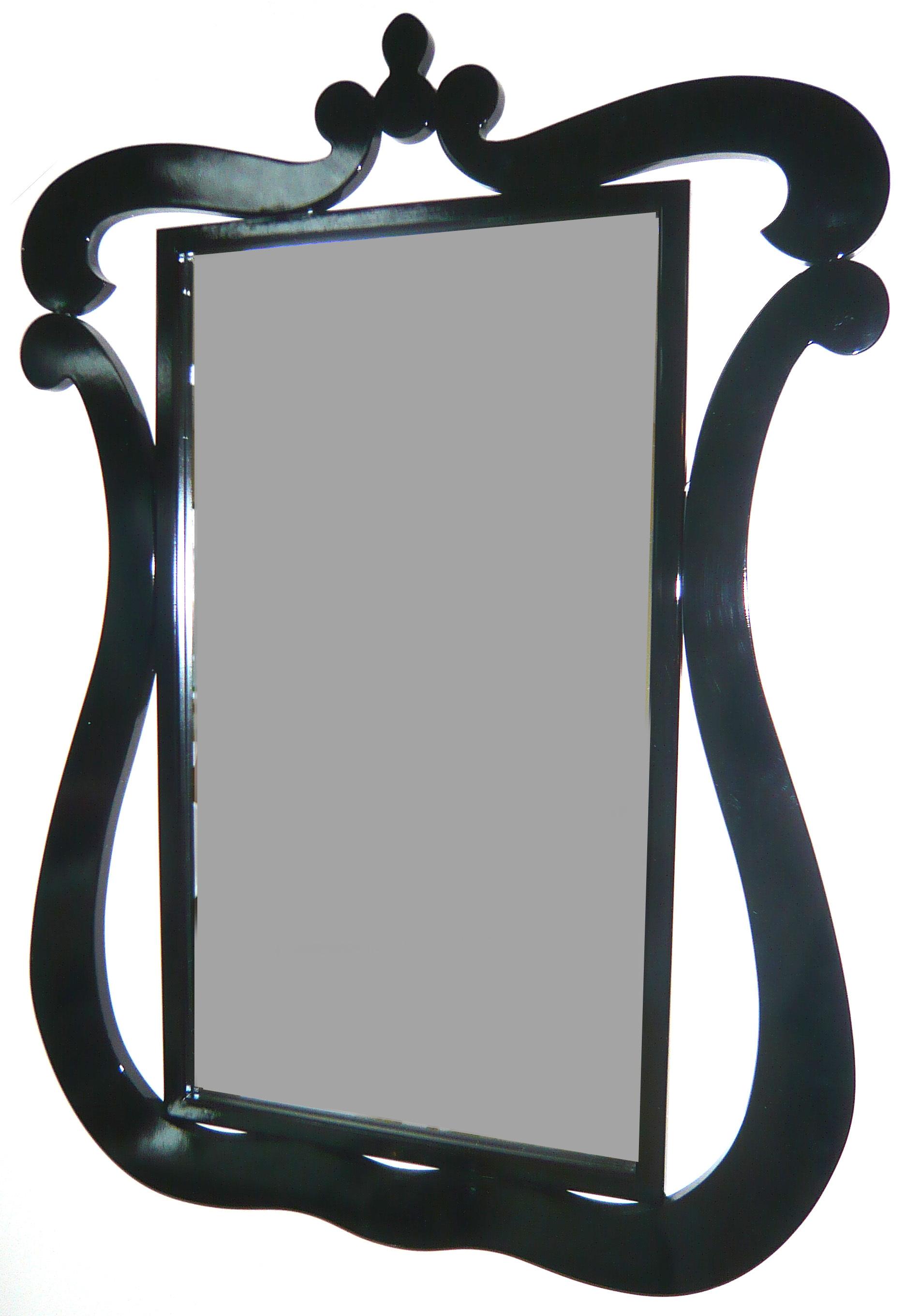 Miroir baroque noir Louisa