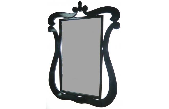 Miroir baroque noir louisa miliboo for Miroir des modes 427