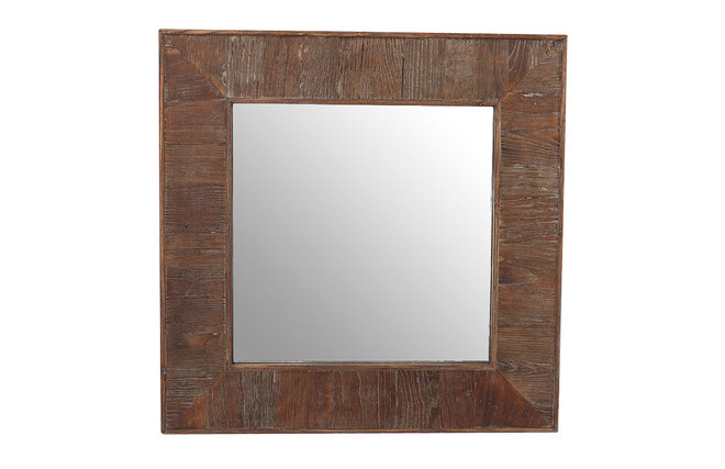 Miroir bois carr gladia miliboo for Miroir carre bois