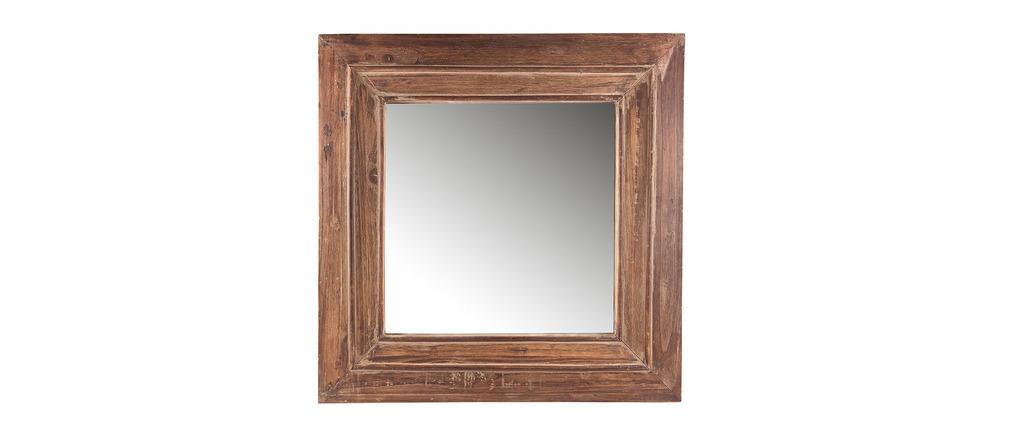 Miroir carr vintage 60cm triva miliboo for Petit miroir carre