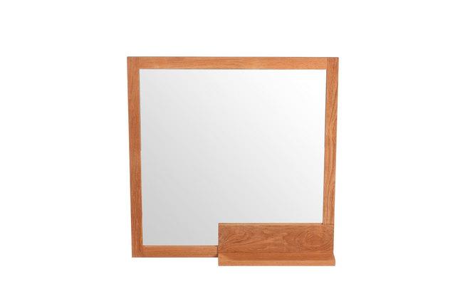 Miroir de salle de bain en teck design akisa miliboo for Miroir des modes 427
