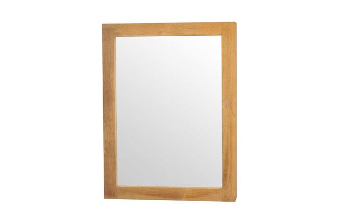 Miroir de salle de bain en teck design arika miliboo for Miroir des modes 427