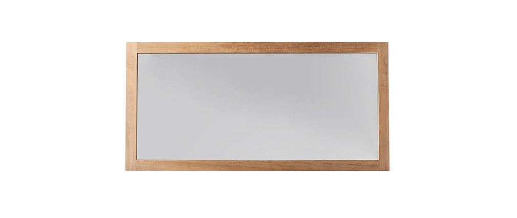 Miroir de salle de bain teck 140x70 cm SANA