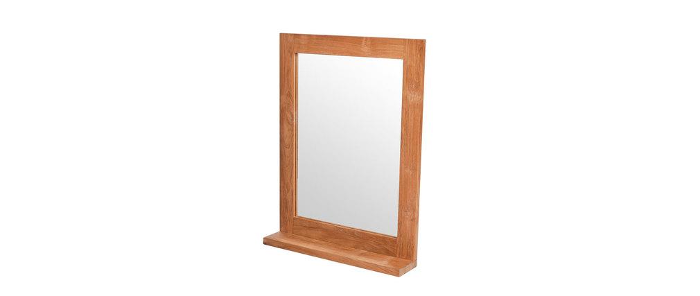 Miroir de salle de bain teck design ANO