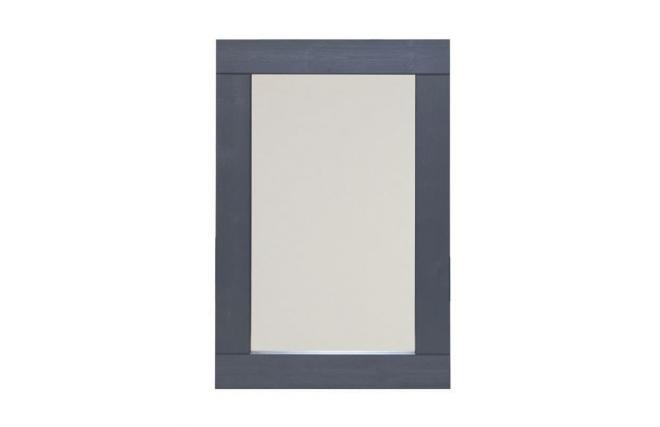 Miroir design en pin gris fonc 90 x 60cm britney miliboo for Miroir teinte design