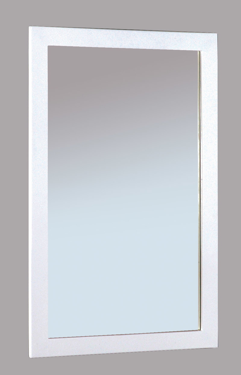 Miroir design laqu blanc gloss miliboo for Miroir blanc laque