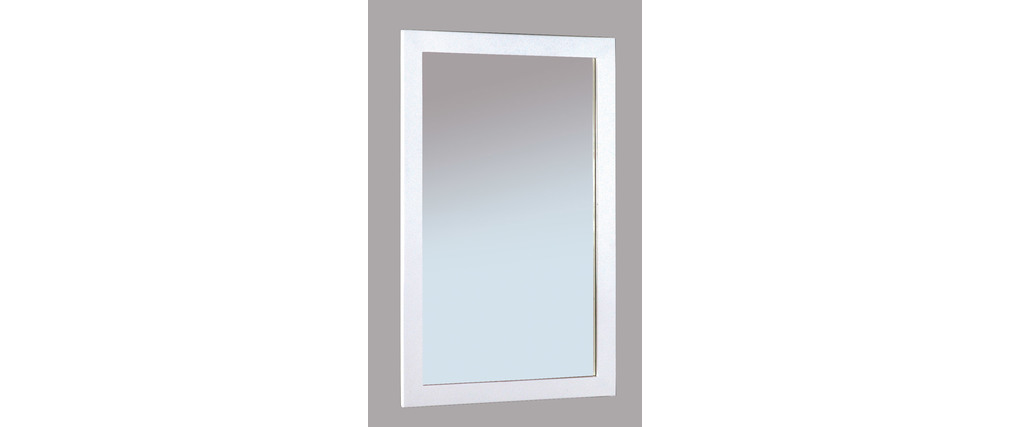 Miroir design laqu blanc gloss miliboo for Miroir laque blanc