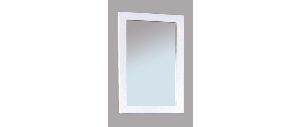 Miroir design laqu blanc little gloss miliboo for Miroir laque blanc