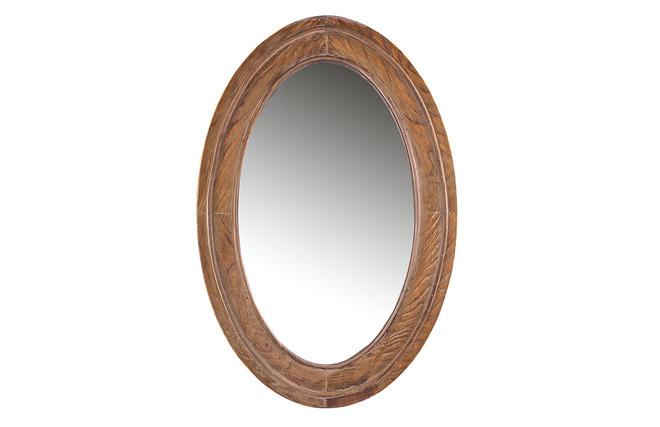 Miroir oval vintage triva miliboo for Miroir des modes 427
