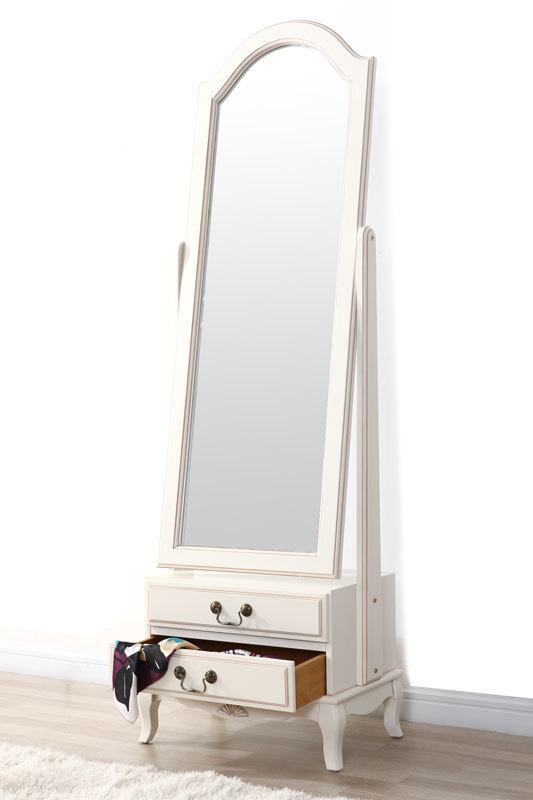 miroir psych baroque bois blanc bianca miliboo