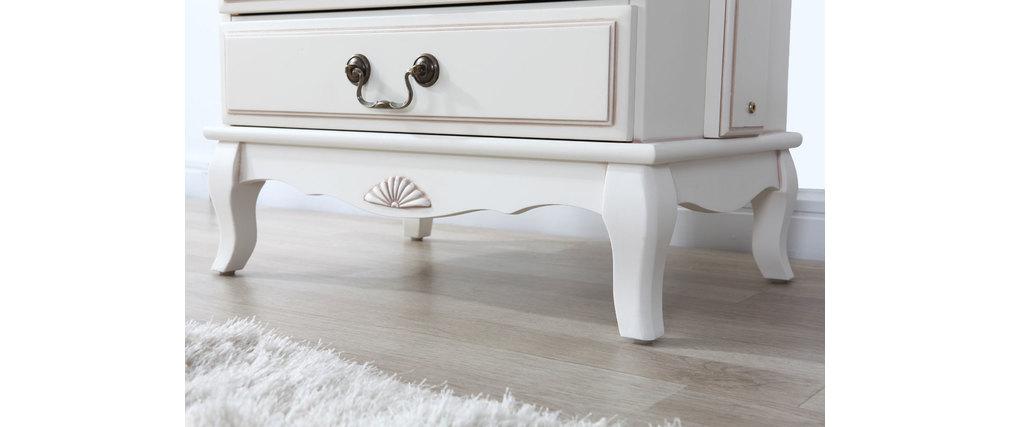 Miroir psyché baroque bois blanc BIANCA