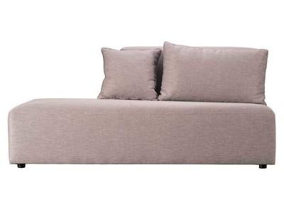 Module chaise longue design gris clair PLURIEL