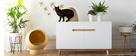 Niche pour chat et chien en bambou laquée blanche POPPINS