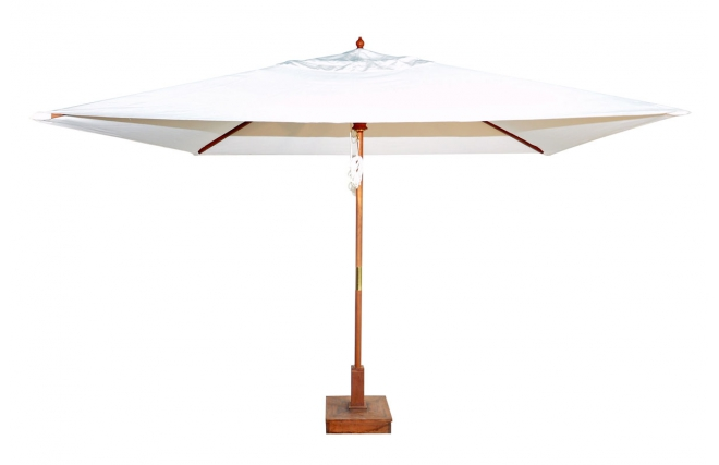 parasol jardin teck carr 260x360 mexico miliboo. Black Bedroom Furniture Sets. Home Design Ideas