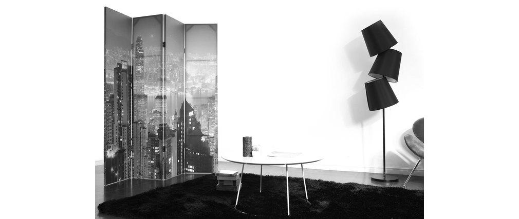 paravent 4 panneaux design urbain citylights miliboo. Black Bedroom Furniture Sets. Home Design Ideas