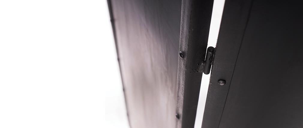 Paravent industriel métal noir FACTORY