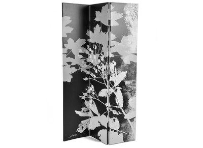 Paravent moderne en bois et tissu Flora